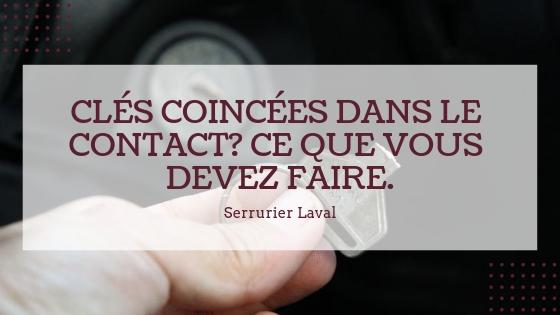 CLÉS COINCÉES DANS LE CONTACT